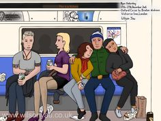 Saturday evening, Victoria line, December 2016 – Wilson Yau: I draw, teach and make stuff Oxford Circus, London Underground, Brixton, My Drawings, Line, December, Family Guy, Victoria, Teaching