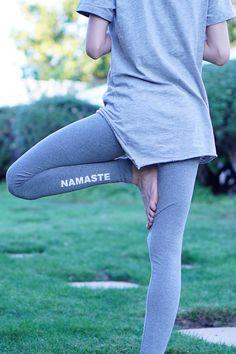 Yoga Leggings  Namaste Leggings  Yoga Pants  Yoga  by ArimaDesigns