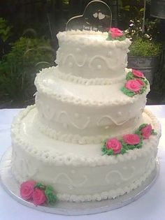 3 Tier vanilla Wedding cake