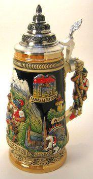 Austria Alps German Beer Stein was made in Germany.