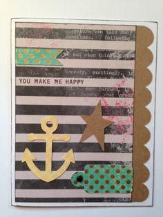 handmade card at Overjoyed Ink at Etsy.
