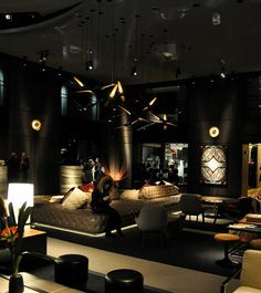 Paramount Design Hotel New York with Coltrane suspension lampvintage floor lamps, mid-century modern lighting, unique lamps, stilnovo lamps, dining table Lamps, vintage desk lamps, brass sconces