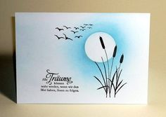 blog.karten-kunst.de - Zehn Minuten Karte. Stempel: Lavinia Stamps Birds, Bullrushes, + Karten-Kunst Weise Worte
