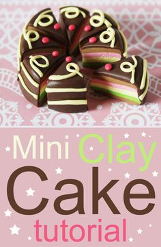 Miniature Cake - Polymer Clay Tutorial FIMO DIY Ciasto Tort z Modeliny Sweet clay cake ideal as jewelry :) Have fun watching and creating (*^^*) Diy Jewelry Tutorials, Clay Tutorials, Cake Tutorial, Diy Tutorial, Cool Watches, Polymer Clay, Miniatures, Diy Crafts, Make It Yourself