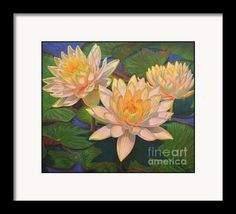 Framing option for Water Lilies 5 Framed Print of an original oil painting by Fiona Craig