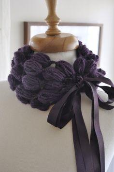 puff stitch neckwarmer