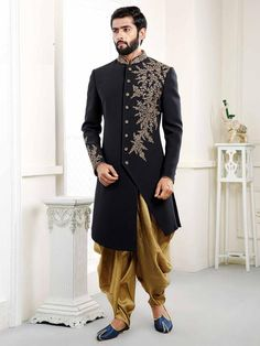 Designer indowestern for wedding,Blue Wedding Indowestern Sherwani For Men,wedding dress for groom,m Sherwani For Men Wedding, Wedding Dresses Men Indian, Groom Wedding Dress, Sherwani Groom, Mens Sherwani, Wedding Men, Wedding Suits, Wedding Blue, Groom Dress