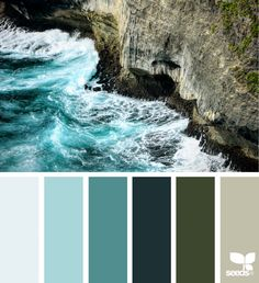 Nature Design Seeds celebrate colors found in nature and the aesthetic of purposeful living.Design Seeds celebrate colors found in nature and the aesthetic of purposeful living. Exterior Paint Colors, Paint Colors For Home, House Colors, Colour Pallette, Colour Schemes, Color Patterns, Teal Color Palettes, Green Palette, Sea Colour