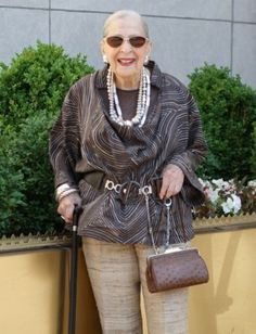 12 Fashion Tips From the Worlds Chicest Grandmas : Lucky Magazine