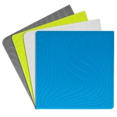 Modern Twist Coaster Notz Silicone Coasters, Studio, Tide, Set of 4 by modern-twist. $13.00. Made of food-safe, non-porous silicone that is free of bpa, lead, latex, and phthalates. Write-and-erase surface for personalizing; works with ballpoint pen or dry-erase marker; wipe off and re-use. Wipe or rinse spills to prevent staining; recyclable through designated facilities. Each coaster measures 4-inch square by 1/8-inch thick. Set of four eco-chic coaster notz drink coast...