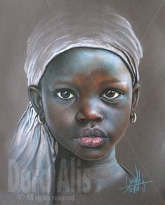 African Girl 100 by Dora-Alis on DeviantArt African Children, African Girl, African Beauty, Black Girl Art, Black Women Art, African Art Paintings, African Drawings, Pastel Portraits, Girl Portraits