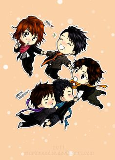 Chibi KAT-TUN: Happy New Year 2012 by stephmendes on DeviantArt