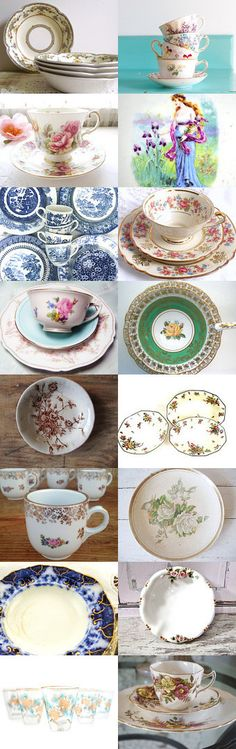 Mix and Match Tea Party by Rosei Skipper on Etsy--Pinned+with+TreasuryPin.com