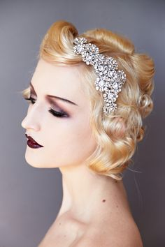 There's a headpiece for every bride, from boho and floral to glitter and Gatsby. Bridal Accessories, Wedding Jewelry, Daisy Headband, Vintage Headpiece, Carat Gold, Swarovski Pearls, Bridal Headpieces, Jewelry Making, Floral