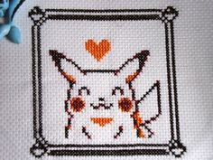 Cross stitch Yellow's Pikachu by Miloceane.deviantart.com on @deviantART