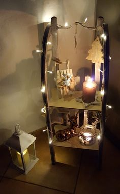 Sleigh Christmas X-Mas Timeless - Trendy Decor Styles 2019 Dip Nail Colors, Christmas Decorations, Holiday Decor, Merry And Bright, Christmas 2019, Wood Table, Diy Home Decor, Diy And Crafts, Candle Sconces