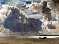 Eugen Bracht - Nuages sur la mer-1911
