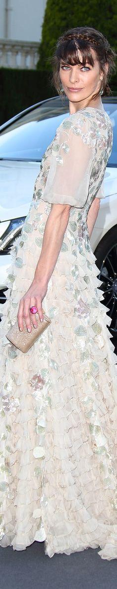 Milla Jovovich in Valentino