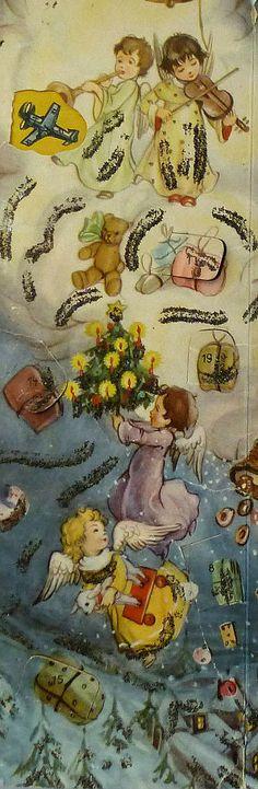 vintage Advent calendar, detail