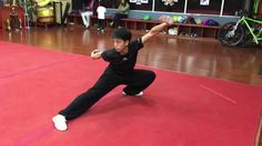 """Back Sweep - It's Chinese translation is """"Hou Sao"""" This is a basic wushu leg technique. Starting from a wushu bow stance, you place your left leg forward, ha. Chinese Martial Arts, Training Center, Kung Fu, New Jersey, Bow, Hands, Flat, Fitness, Arch"""