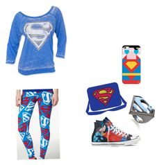"""""""Superman to the recuse"""" by dj2000noname ❤ liked on Polyvore featuring Converse, Noir, Casetify and Bioworld"""