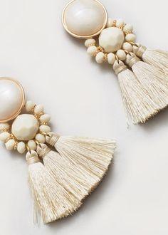 Tassels pendant earrings -  Woman | MANGO Canada