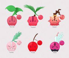 Cherubi Pokemon Variations by LaCandida.deviantart.com on @DeviantArt