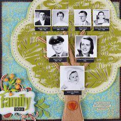 Family tree scrapbook layout    #ancestry #familytree #genealogy #scrapbooking