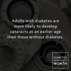 Adults with diabetes are more likely to develop cataracts at an earlier age than those without diabetes. Early detection, timely treatment, and appropriate follow-up care of diabetic eye disease can protect against visionloss.  READ MORE HERE https://www.linkedin.com/pulse/diabetes-eye-alison-ridenour