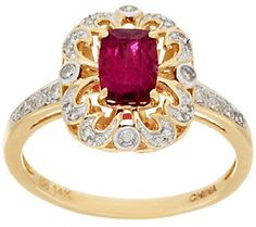 Premier Rubellite & Diamond Ring, 14K Gold 0.75 ct