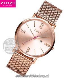 Zinzi Roman Horloge ZIW505M Zinzi Watches Rose Dames. Zinzi Roman dames horloge Edelstaal Rosekleurig. #horloges #watches #juwelierswebshop