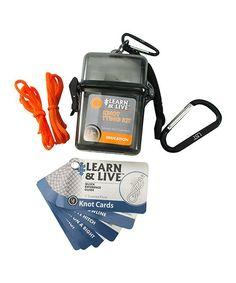 Orange Learn & Live Knot Tying Kit
