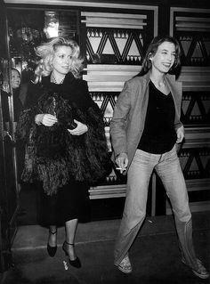 Catherine Deneuve and Jane Birkin, 1970s.