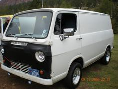 1966 gmc van -Mine was Dark metal flake blue w/Cragar mags, and we dropped in a 327 V8 from a 67'corvette
