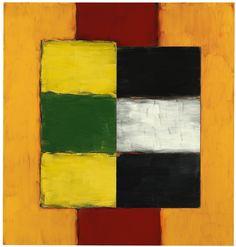 Sean Scully (b.1945) Green Yellow Figure, 2002