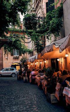 Trastevere streets in Rome, Italy.