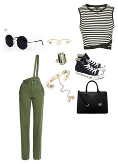 """""""Untitled #129"""" by karla-mouque on Polyvore featuring Converse, Topshop, MICHAEL Michael Kors, Valentino, Ivanka Trump, Una-Home and Marc by Marc Jacobs"""