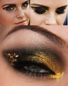 I'm not one for the black eye, but I love this!! Emma Watson Eyeshadow Look