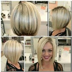 Classic Asymmetrical Bob Looking for a cute hairstyle that's edgy yet fab? Then you need to go with the classic asymmetrical bob! Longer on one side and shorter on the other, the asymmetry creates a playful finish that's great for younger women.