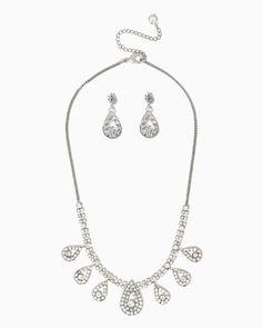 charming charlie   Dancing Pear Necklace Set   UPC: 410006868991 #charmingcharlie