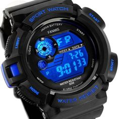 Fanmis Mens Military Multifunction Digital LED Watch Electronic Waterproof Alarm #Fanmis #Military