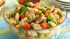 Love to bring home an empty bowl from potlucks? Here's a crowd-size pasta pleaser that almost guarantees an empty bowl.