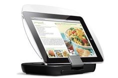 Clear splatter guard protects your iPad or cookbook while you cook!