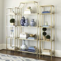 "Silvia Etagere - Narrow Etagere Overall: 73""H X 18""W X 12""D (for space between the living room and dining room)."