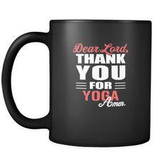 [product_style]-Yoga Dear Lord, thank you for Yoga Amen. 11oz Black Mug-Teelime