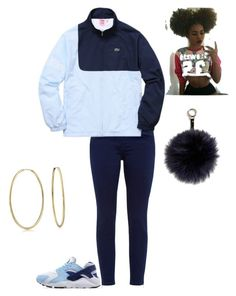 """""""SUPREME #1"""" by mostwanted-mariah ❤ liked on Polyvore featuring Ted Baker, Lacoste, NIKE, Adrienne Landau and Bling Jewelry"""