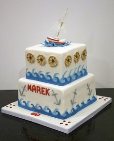 sail boat nautical cake
