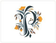 Floral Alphabet by Jill De Haan, via Behance
