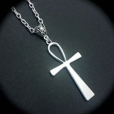 Silver Ankh Pendant Necklace
