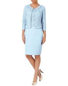 All Clothing | Blue Posy Lace Jacket | Phase Eight